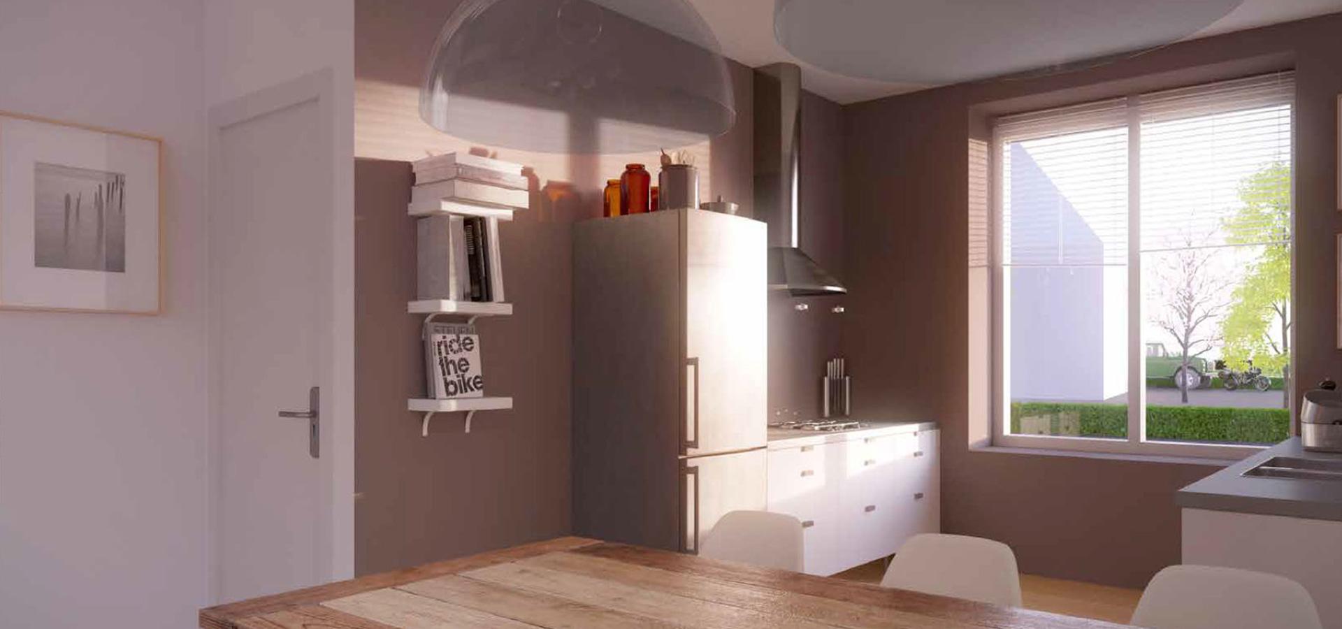 De woningen patiowoningen vrijstaand geschakeld 2 onder 1 kap type e dijkstraten best - Keuken ontwikkeling m ...